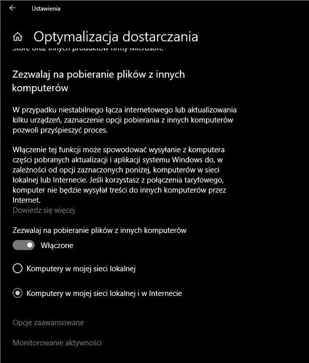 aktualizacje Windows 10