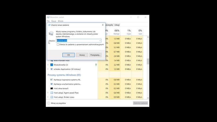 Jak włączyć eksplorator Windows