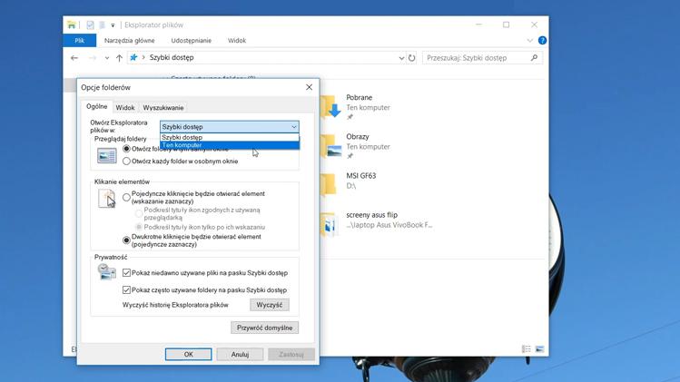 Jak zmienić widok Eksploratora Windows