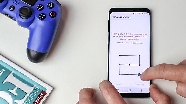 Jak ustawić blokadę ekranu smartfona - Wzór Symbol