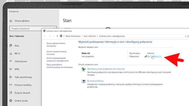 Jak sprawdzić hasło do WiFi w Windows 10