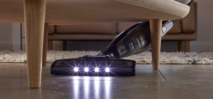 odkurzacz pionowy z podświetleniem