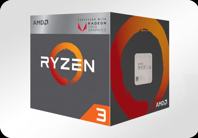 AMD Ryzen 3 2200G - opakowanie