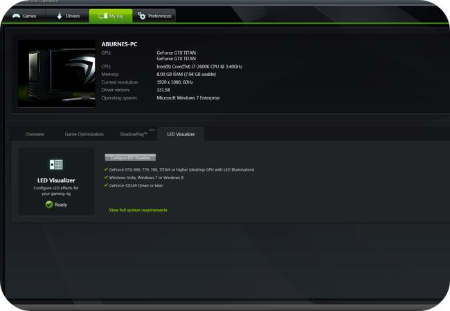 Oprogramowanie GeForce Experience