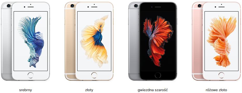 iPhone 6s - warianty kolorystyczne