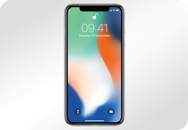 iPhone X 64GB Silver - Front