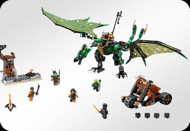 Klocki LEGO Ninjago - Duża ilość akcesorii i postaci