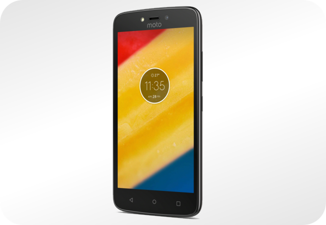 Motorola Moto C Plus - wygląd z przodu