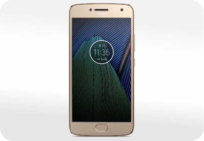 Motorola Moto G5 Plus - wygląd z przodu