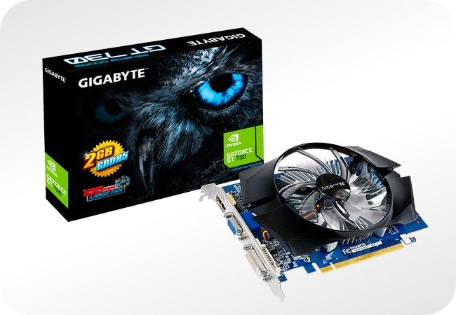 NVIDIA GeForce GT 730 - przykładowa wersja od Gigabyte