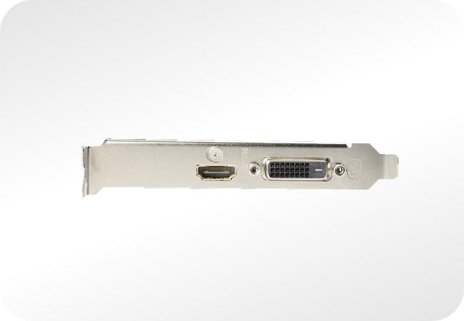 NVIDIA GeForce GT 1030 - przykładowy zestaw złącz