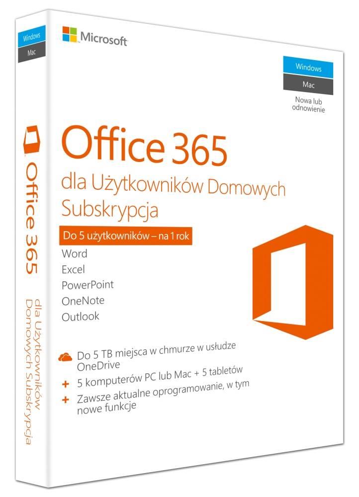 Microsoft Office 365 Home dla Użytkowników Domowych