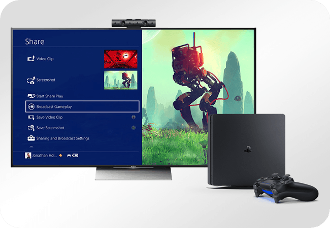 Sony PlayStation 4 Slim 500GB - rozgrywka