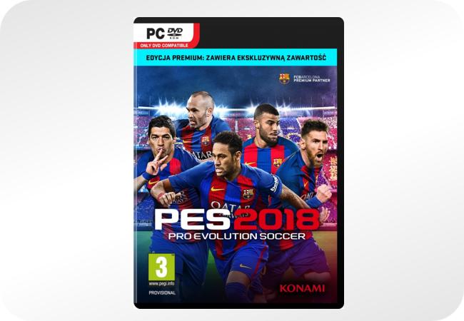 Pro Evolution Soccer 2018 - opakowanie (Edycja Premium, PC)