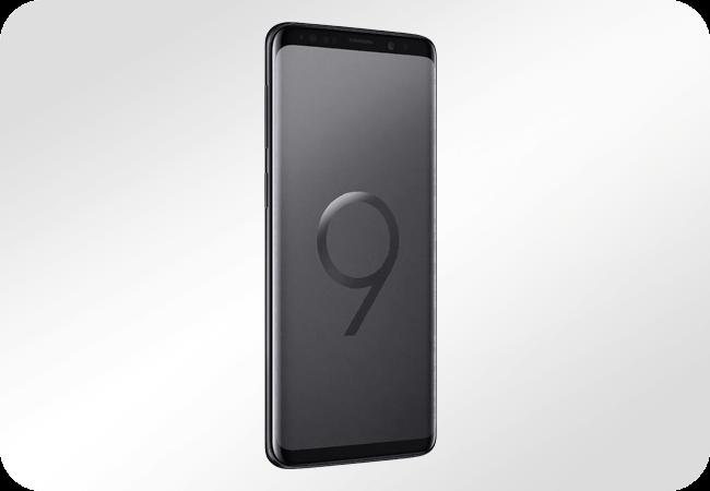 Samsung Galaxy S9 64GB Midnight Black (G960) - wygląd z przodu