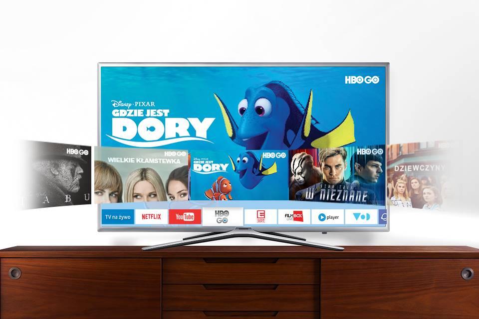 Samsung Łatwy dostęp do aplikacji, filmów i seriali. Smart Hub