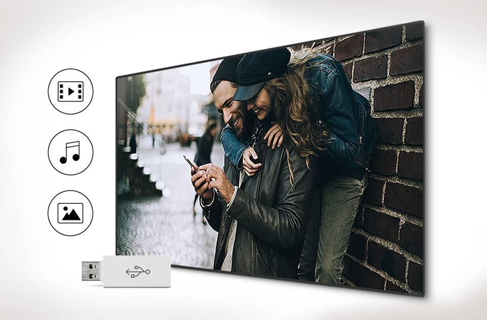 Samsung Łatwy dostęp do ulubionych treści na USB. Connect Share Movie