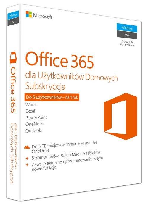 Office 365 dla Użytkowników Domowych